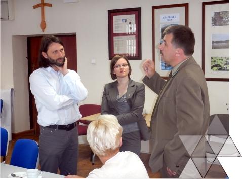 Spotkanie zprzedstawicielami gmin, powiatu inadleśnictw wCzaplinku