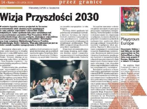 Tekst Regionalnego Biura w dodatku Kuriera Szczecińskiego PRZEZ GRANICE