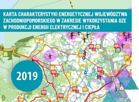 Aktualizacja Karty charakterystyki energetycznej województwa zachodniopomorskiego wzakresie wykorzystania OZE wprodukcji energii elektrycznej iciepła według stanu nakoniec września 2019 r.